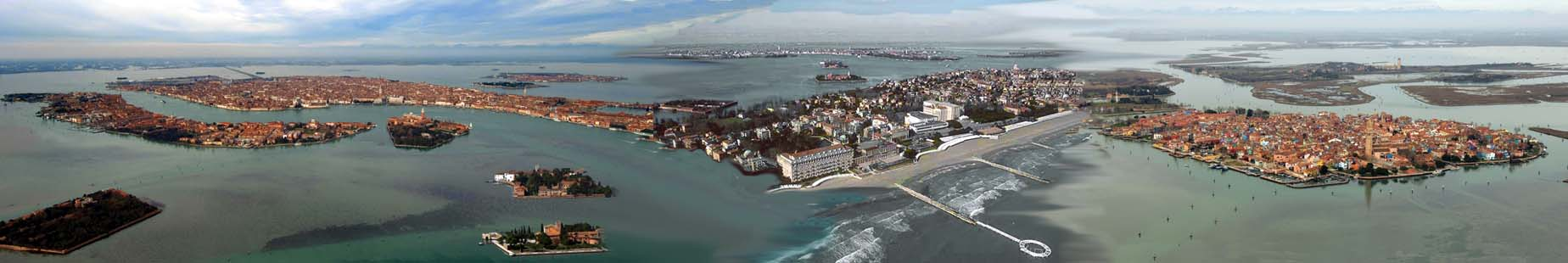 Venice sight from helicopter Heliair