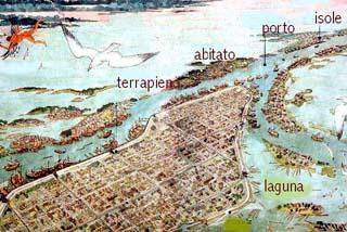 Mappa della città etrusca di Spina